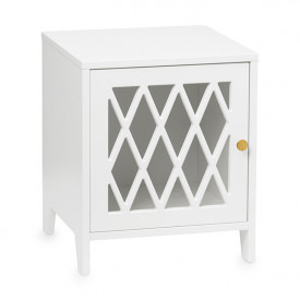 Harlequin Bed Side Table - White