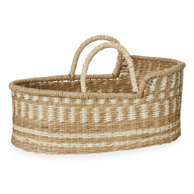 Moses basket for dolls - White