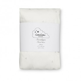 Fitted sheet 75 x 160 - Dots Cream