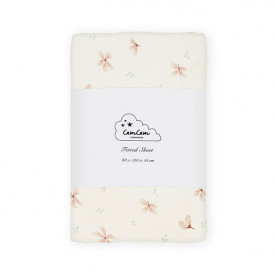 Fitted Sheet 60 x 120 cm - Windflower Cream