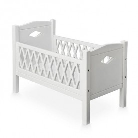 Doll's bed Harlequin - White