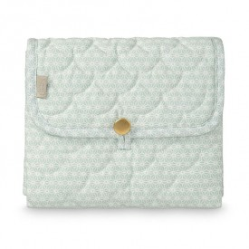 Travel Changing mat - Quilted - Sashiko Mint