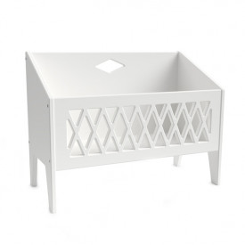 Harlequin Book Bench - White