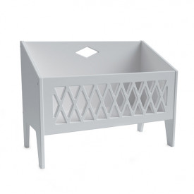 Harlequin Book Bench - Grey