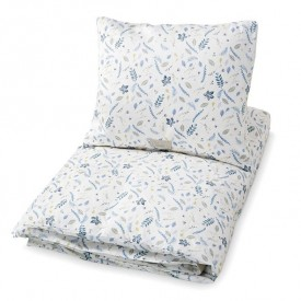 Bed Linen 100 x 140 - Pressed Leaves Blue