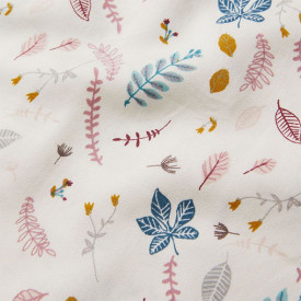 Fitted Sheet 70 x 140 cm - Pressed Leaves Rose
