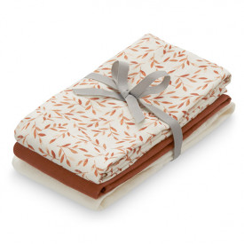 Muslin Cloth - 3 Pack - Mix Caramel Leaves