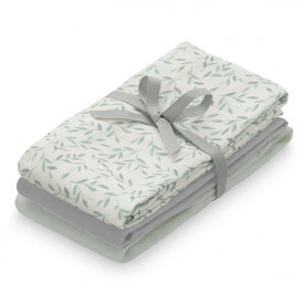 Muslin Cloth - 3 Pack - Mix Green Leaves