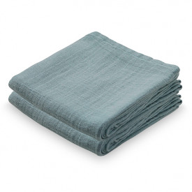 Set of 2 Muslin Cloths - Petroleum
