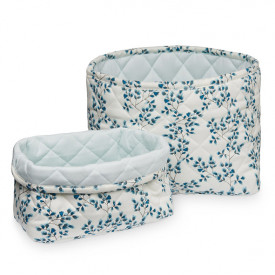 Set of 2 Quilted Storage Basket - Fiori