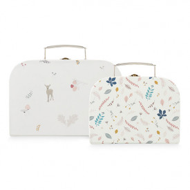 Set of 2 suitcases - Fawn/Pressed Leaves Rose