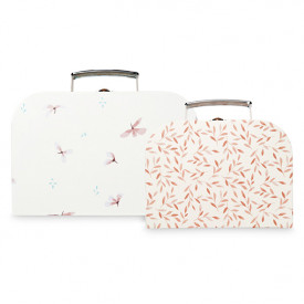 Set of 2 suitcases - Windflower Cream/Caramel Leaves