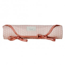 Travel Changing Mat - Sashiko Blush