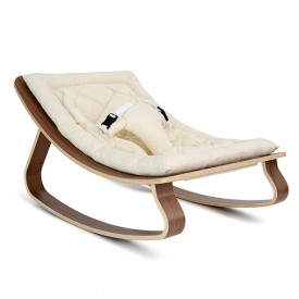 Baby Rocker Levo Walnut & Organic White