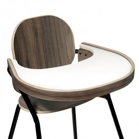 Table Tray Walnut for TIBU High Chair Black Edition