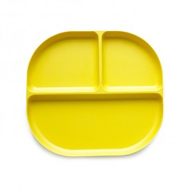 3 compartments plate Bambino - Yellow