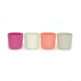 Pack of 4 cups - Coral