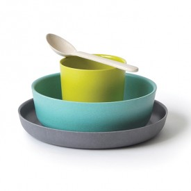 Bambino dish set for kids - Lagoon