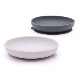 2 pack suction plate silicone - Cloud / Storm