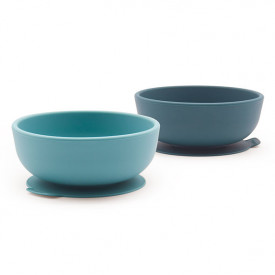 2 pack suction bowl silicone - Blue Abyss / Lagoon