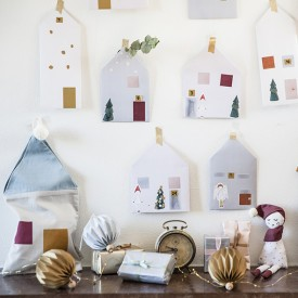 Paper House Christmas Calendar - In Fairy Town