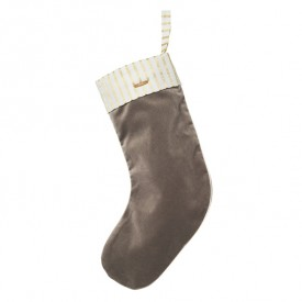 Christmas Velvet Stocking - Brown