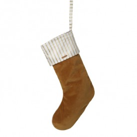 Christmas Velvet Stocking - Mustard