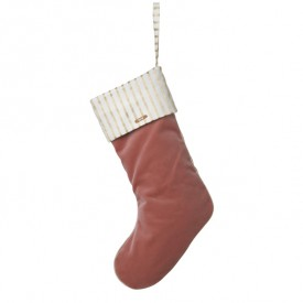 Christmas Velvet Stocking - Pink