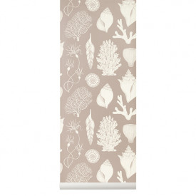 Katie Scott Wallpaper - Shells - Dusty Pink
