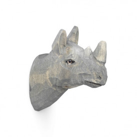 Animal Hand-Carved Hook - Rhino