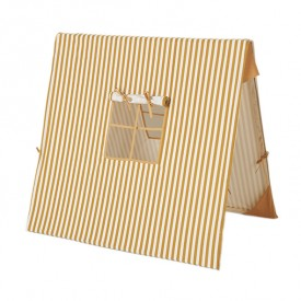 Kids Tent - Thin Stripes Mustard