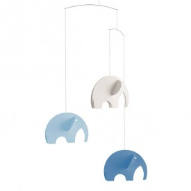 Elephants Mobile - Blue