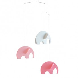 Elephants Mobile - Pink