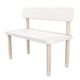 Small bench PLAY - White