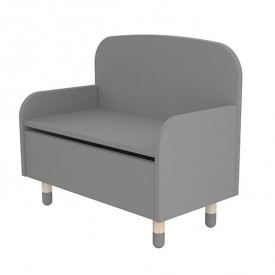 Bench / Toy Box PLAY - Grey
