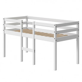 Mid-High Bed Alfred - 70x160cm - White