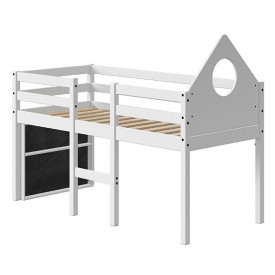 Mid-High Bed Alfred w/ headboard & footboard - 70x160cm - White