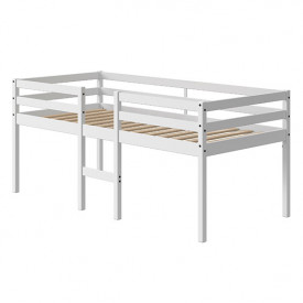Mid-High Bed Alfred - 90x200cm - White