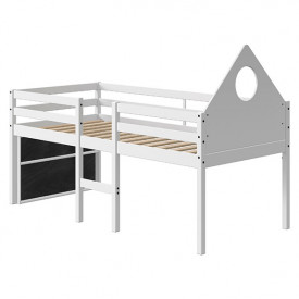 Mid-High Bed Alfred w/ headboard & footboard - 90x200cm - White