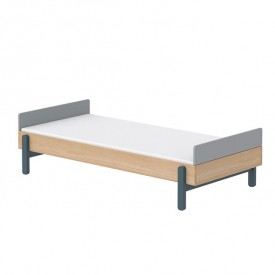 Single bed with headboards Popsicle 90 x 200 cm - Blueberry