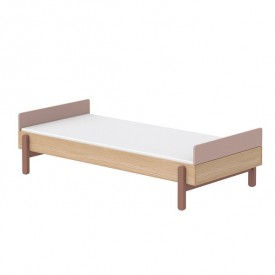 Single bed with headboards Popsicle 90 x 200 cm - Cherry