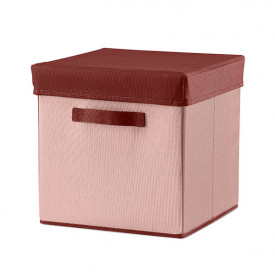 Room Fabric Storage Box - Misty Pink