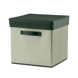 Room Fabric Storage Box - Moss Green