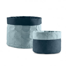 Set of 2 Room Soft Storage - Frosty Blue