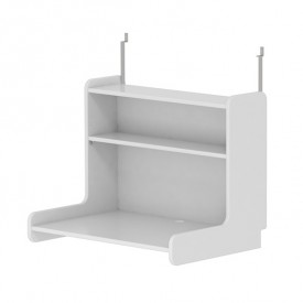 White click-on desk