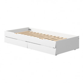 White Underbed Drawer 90x200cm w/ drawers - White