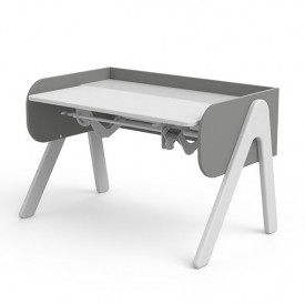 Tilting Desk WOODY - White/Grey