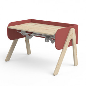 Tilting Desk WOODY - Natural/Misty Pink