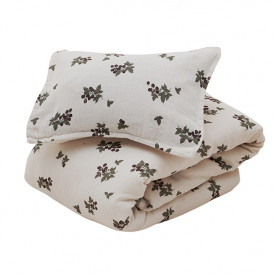Muslin Bed Linen 100x140 - Blackberry