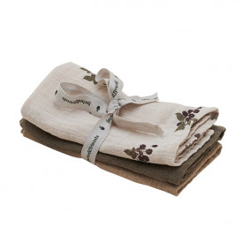 Set of 3 Muslin Cloth - Blackberry